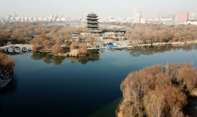 Scenery of Daming Lake in east China's Jinan