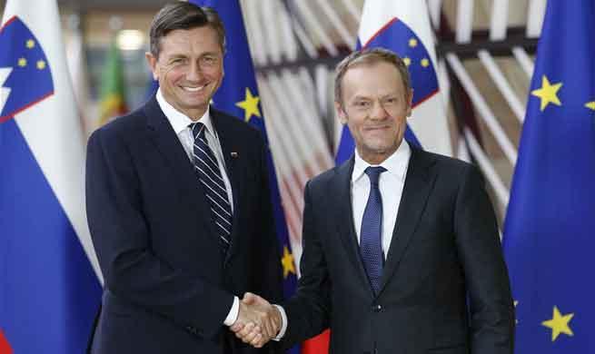 Slovenian President Borut Pahor visits EU headquarters