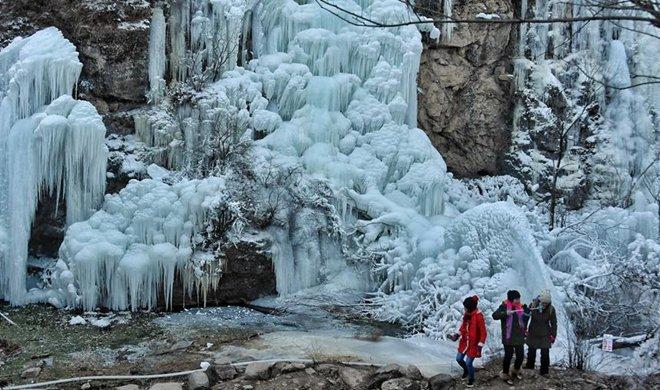 Winter scenery of Yudushan scenic spot in Beijing