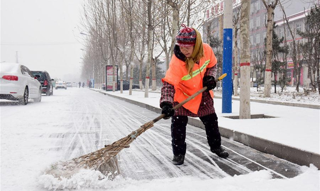 Some parts of Beijing, Tianjin and Hebei embrace snowfall