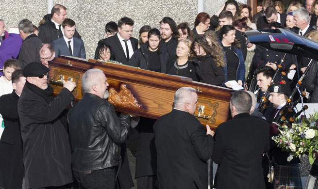 Funeral of Dolores O'Riordan held in Limerick