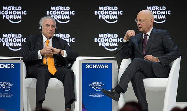 World leaders speak during WEF annual meeting