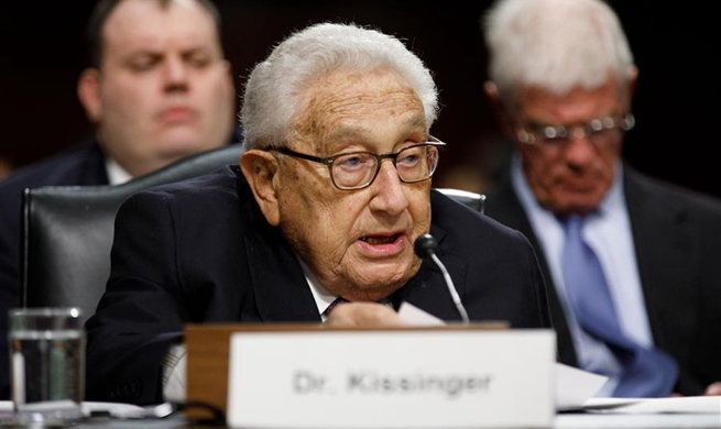 Kissinger attends Senate Armed Services Committee hearing in Washington D.C.