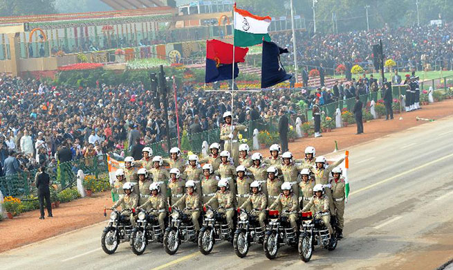 India displays military might at Republic Day parade