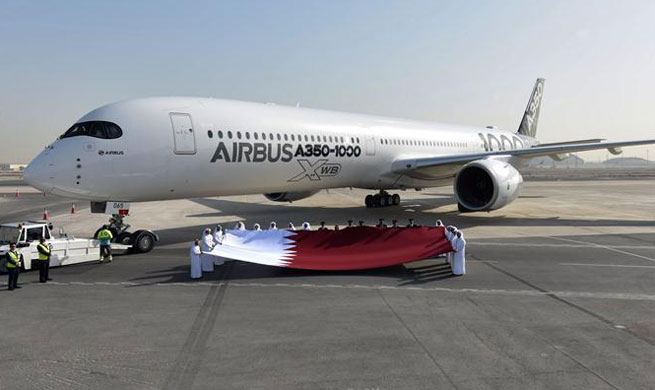 Airbus A350-1000 arrives in Doha