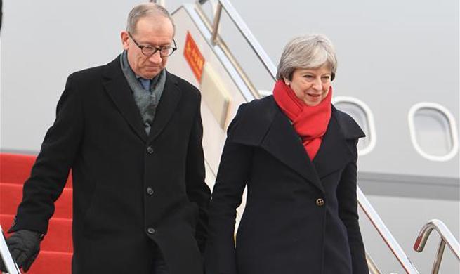 British PM Theresa May starts China tour