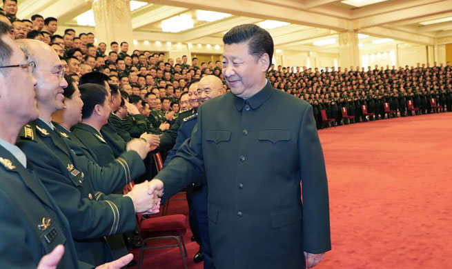 Xi meets delegates to Party congress of armed police force