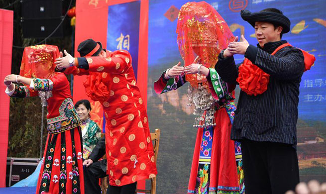 Look of love: See Miao people's traditional wedding ceremony
