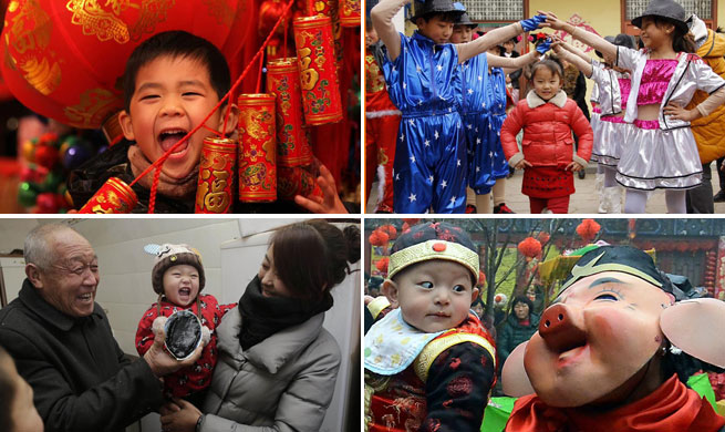 Kids, most joyful group during Spring Festival in China