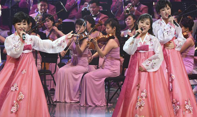 DPRK orchestra stages concert in S. Korea before opening of Winter Olympics