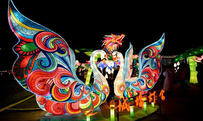 Lantern fair greeting Spring Festival held in NW China