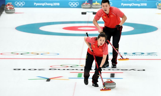 China beats United States in PyeongChang Games curling mixed doubles