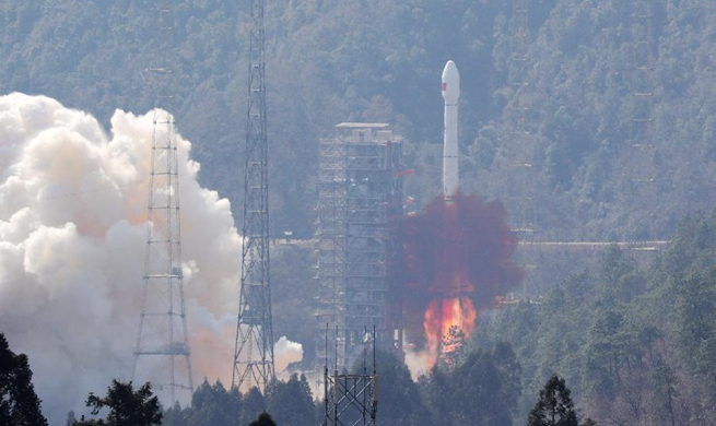Twin BeiDou-3 navigation satellites sent into orbit by single rocket