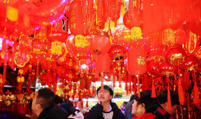 People make preparations to celebrate Spring Festival