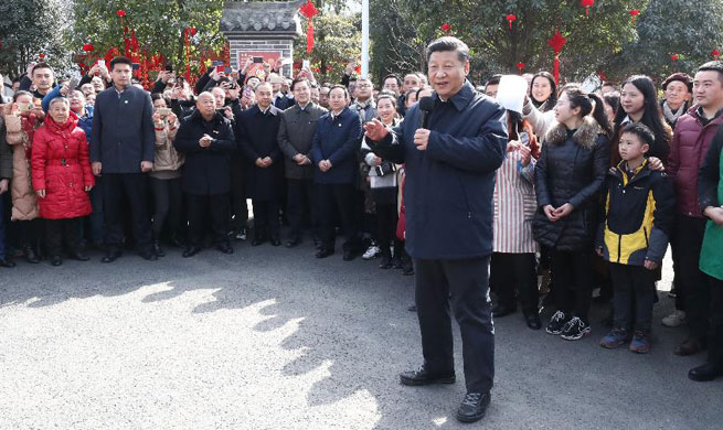"""My job is to serve the people,"" Xi says in Lunar New Year inspection"