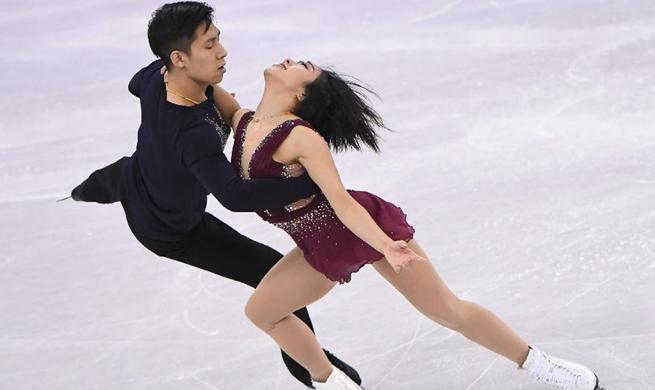 China's pair Sui/Han lead figure skating short program at PyeongChang Olympics