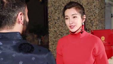 Dining with movie star Li Bingbing on Chinese New Year's Eve