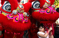 A look at Chinese Lunar New Year celebration in Chinatown of Yangon, Myanmar