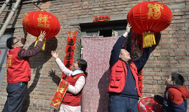Volunteers send gifts to impoverished family in Hebei to greet Chinese Lunar New Year