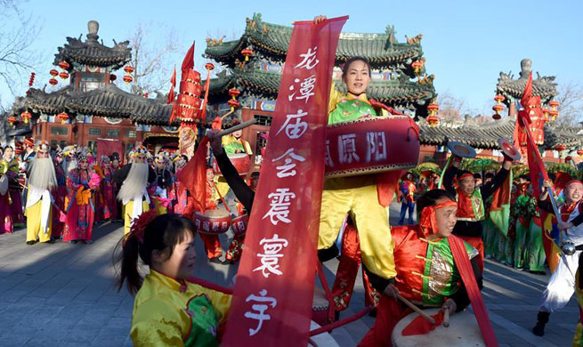 Temple fair held in Beijing to embrace Chinese Lunar New Year