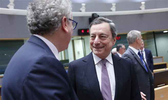 Eurogroup Finance Ministers' meeting held in Brussels