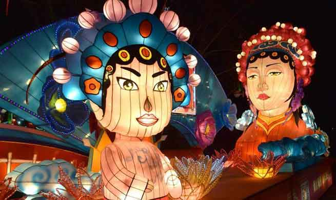 Lantern show held in east China's Shandong Province