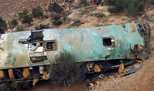At least 35 killed in bus crash in southern Peru
