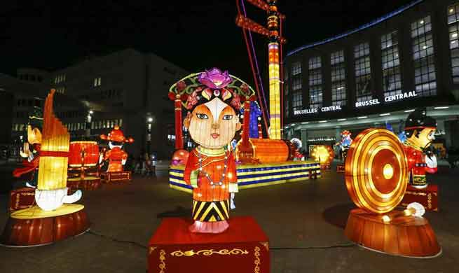 Chinese lantern exhibition held in Brussels