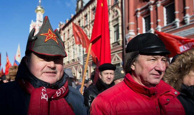 Parade marking Defender of Fatherland Day held in Moscow