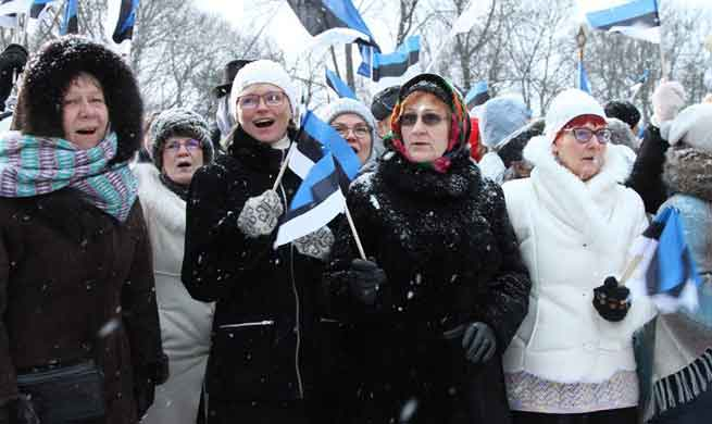 Celebrations held to mark centennial day of Estonian independence in Tallinn