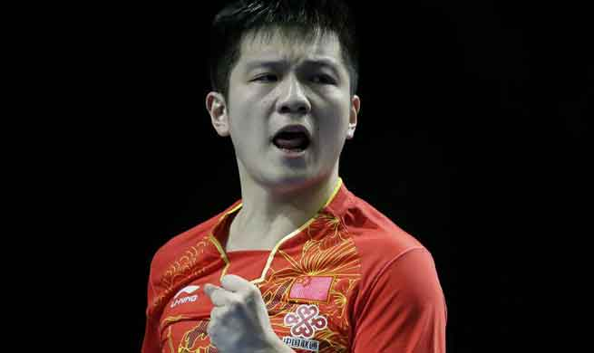 China advances to final in ITTF Team World Cup in London
