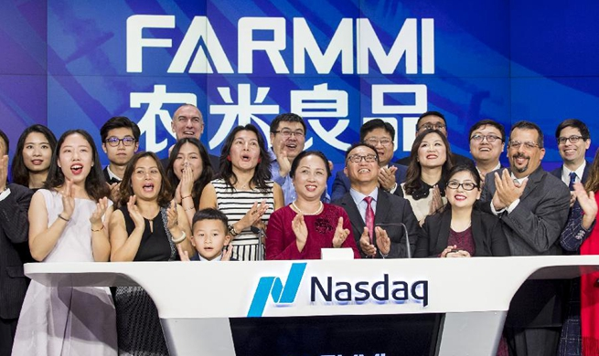 Chinese agricultural firm Farmmi rings Nasdaq opening bell to celebrate its IPO