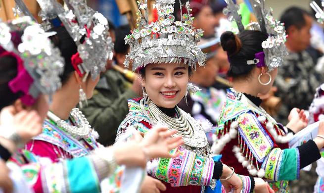 People of Miao ethnic group celebrate lusheng festival