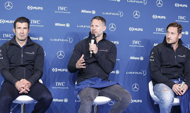 Press conference held for Laureus World Sports Awards in Monaco