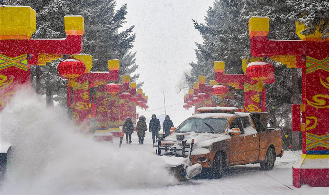 China issues yellow alert for snowstorms