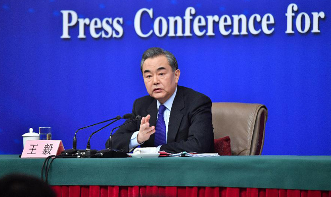 Chinese foreign minister meets press