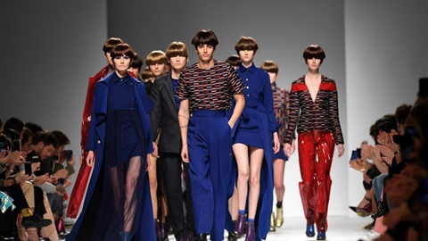 Creations of Luis Carvalho presented at Lisbon Fashion Week