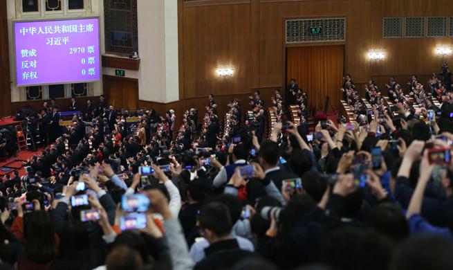 Xi Jinping unanimously elected Chinese president, CMC chairman