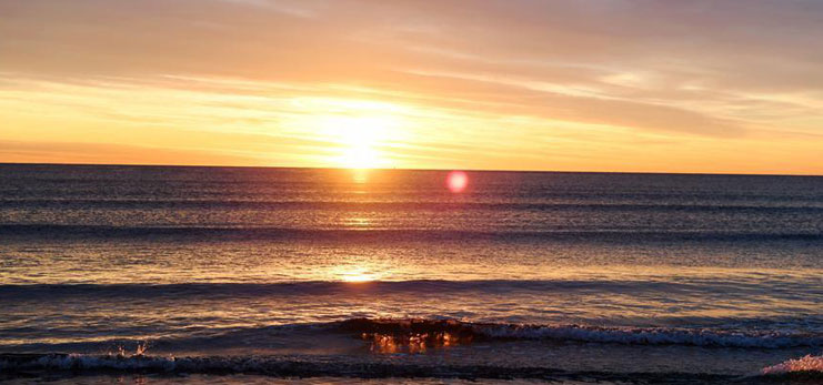 In pics: sunrise from sea level of Mediterranean in Spain's Valencia