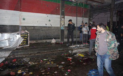 Mortar attack on popular market kills 35 in Syria's Damascus
