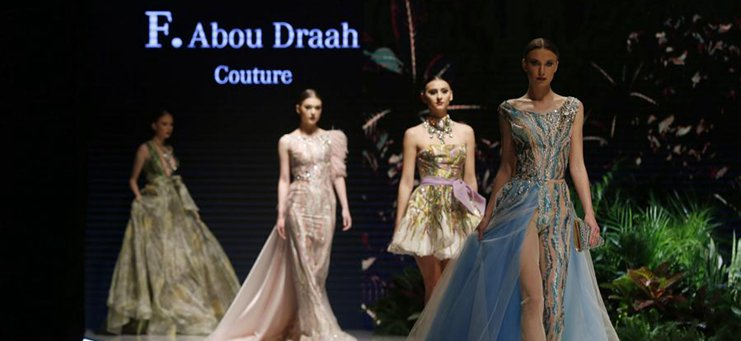 "Models present creations during ""Designers & Brands Event"" show in Lebanon"
