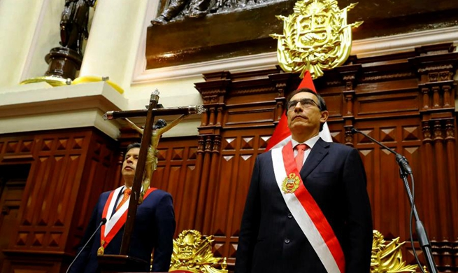 Martin Vizcarra sworn in as Peru's new president, vows to fight graft
