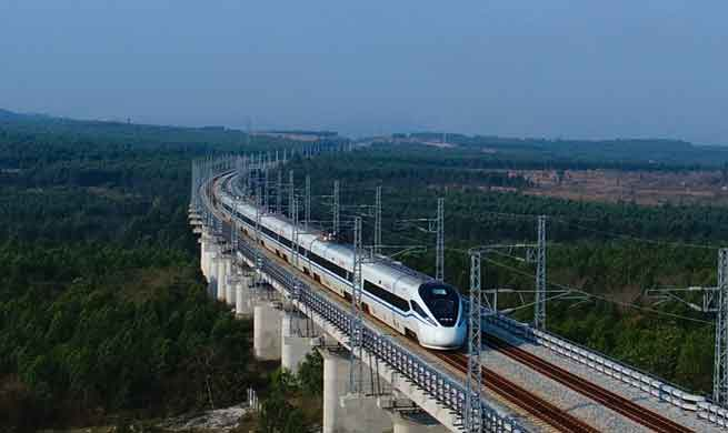High-speed loop line in S China's Hainan receives over 25 mln passengers in 2017
