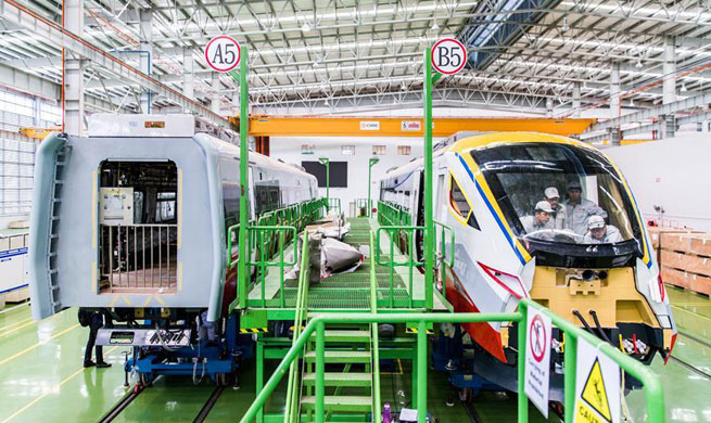 Inside China's 1st overseas manufacturing base of railway equipment in Malaysia