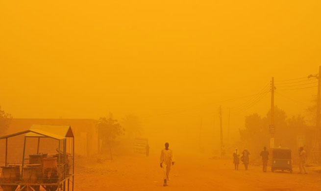 Heavy dust storm hits Sudan