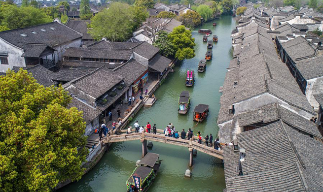 Temple fair held in historic town of Wuzhen, E China