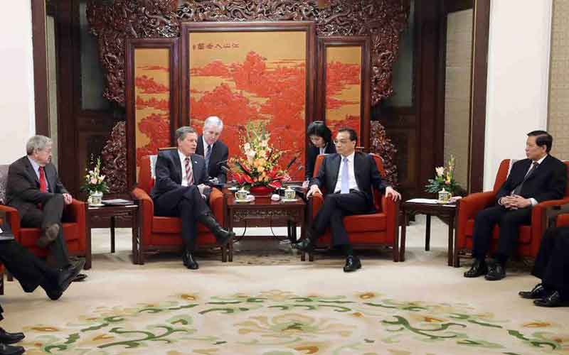 Chinese premier meets U.S. congress delegation