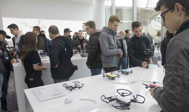 Chinese drone manufacturer DJI opens retail shop in Budapest, Hungary