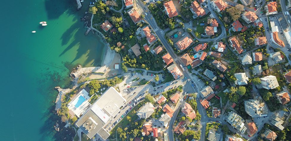 Coastal scenery of Opatija, Croatia