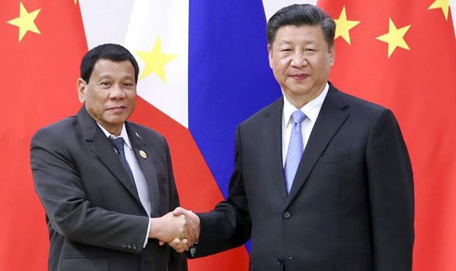 Xi calls for elevating Sino-Philippine ties